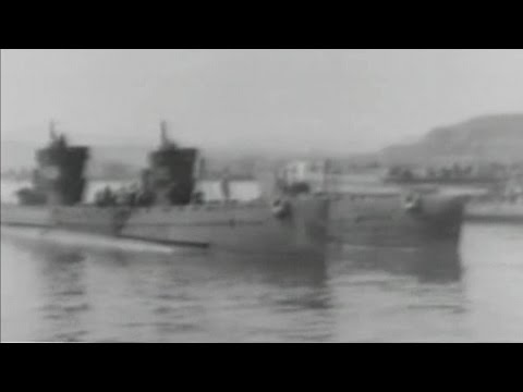 Submarines of the Imperial Japanese Navy at Kure Harbor - October 1945