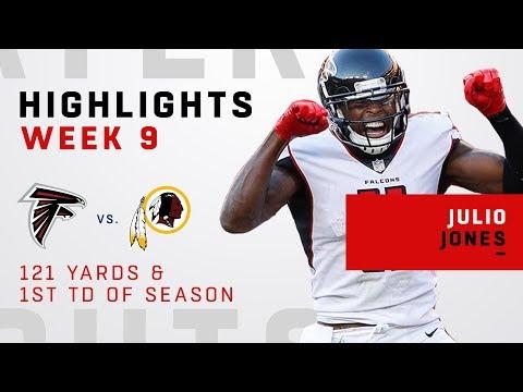 Julio Jones' 121 Yards & First TD of the Season vs. Redskins