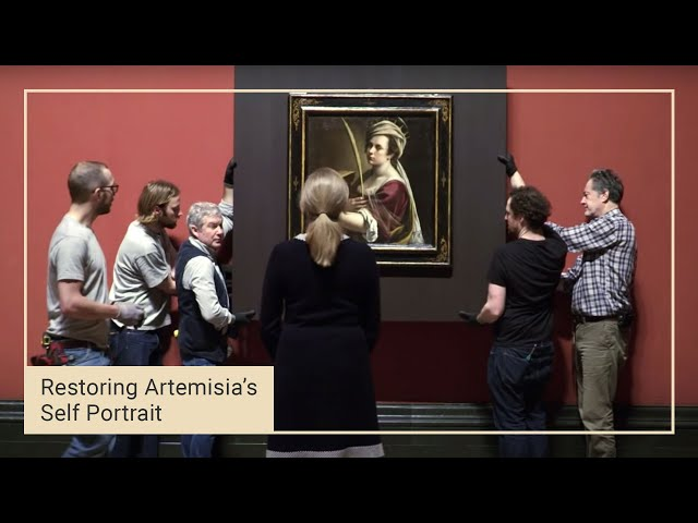 Artemisia Gentileschi's 'Self Portrait' goes on display | 14 of 14