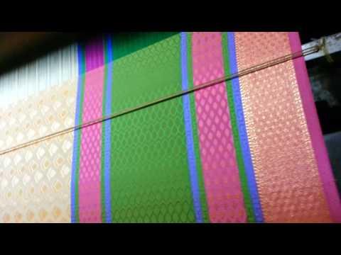 Weaving sarees in jacquard looms