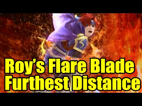 How Much Distance Will Roy's Flare Blade Launch Each Character (Super Smash Bros Wii U)