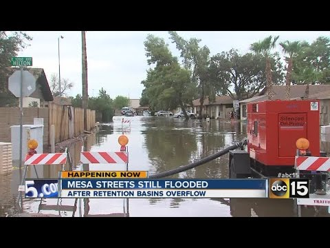 Mesa streets still flooded after monster storm
