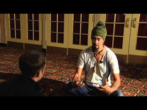 (Raw video) Interview with Michael Franti at the Flynn Theater in Burlington VT