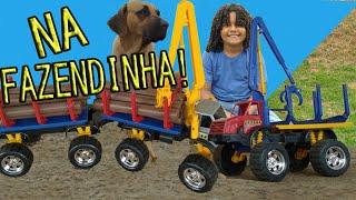 FAZENDINHA DO ALEXANDRE, CAMINHÃO DE MADEIRA, BRINQUEDO DE FAZENDINHA, toy farm, ALEXANDRE kids