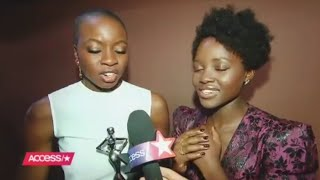Lupita is asked if Michael B Jordan has a chance with her? Omg