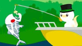 КОТЕНОК РЫБОЛОВ #3 Поймал большую и маленькую рыбку милый котик в мультик игре #пурумчата