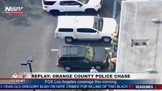 REPLAY: Police pursuit of a reported stolen vehicle in Orange County, CA (FNN)