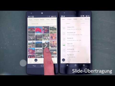 Die schnellste Art der Daten-Übertragung von Smartphone zu Smartphone