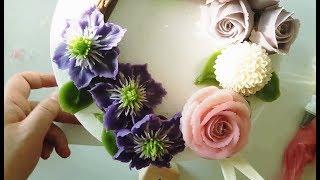 (#힐링 healing)앙금플라워 클레마티스,장미,퐁퐁국화 /Clematis,Rose,pompon/ beanpaste flower piping
