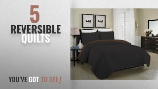Top 10 Reversible Quilts [2018]: Blissful Living Reversible Luxury Pinsonic Quilt Set Including
