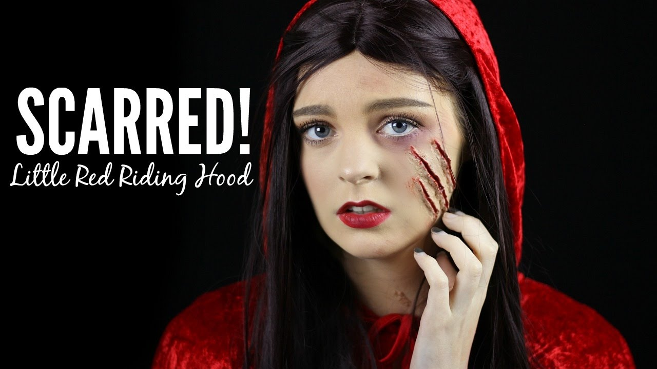 SCARRED! Little Red Riding Hood || Halloween Makeup Tutorial - YouTube
