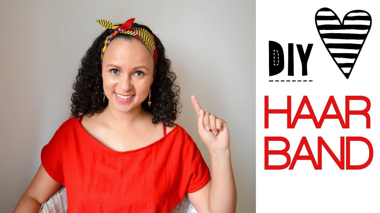 DIY Haarband nähen mit kostenlosem Schnittmuster - YouTube