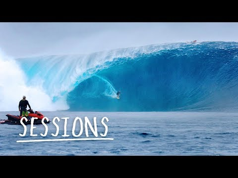 Is this the biggest swell ever surfed at Cloudbreak?   Sessions