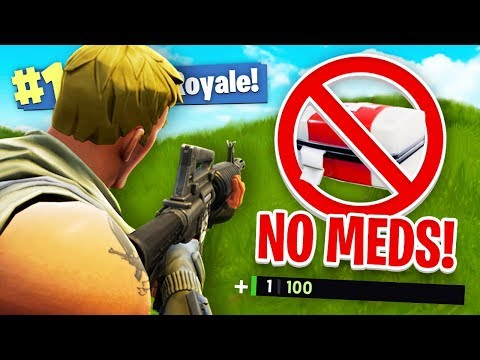 NO MEDS CHALLENGE in Fortnite Battle Royale