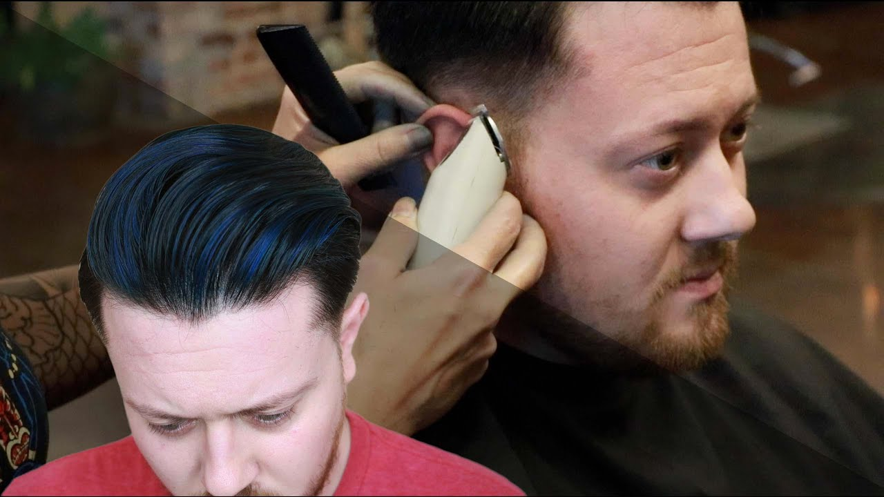Mens Hair I Mens Hair Cut And Style 2016 I Blue Highlights Youtube