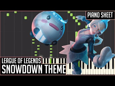 League of Legends Snowdown Theme 2015 [Piano Synthesia + Sheets]