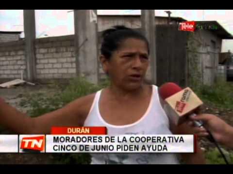 Moradores de la cooperativa Cinco de Junio piden ayuda