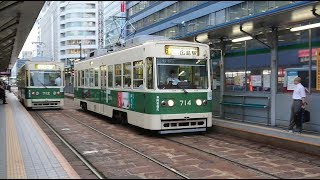 【響く!平行カルダン】広島電鉄700形714号 紙屋町東到着〜発車