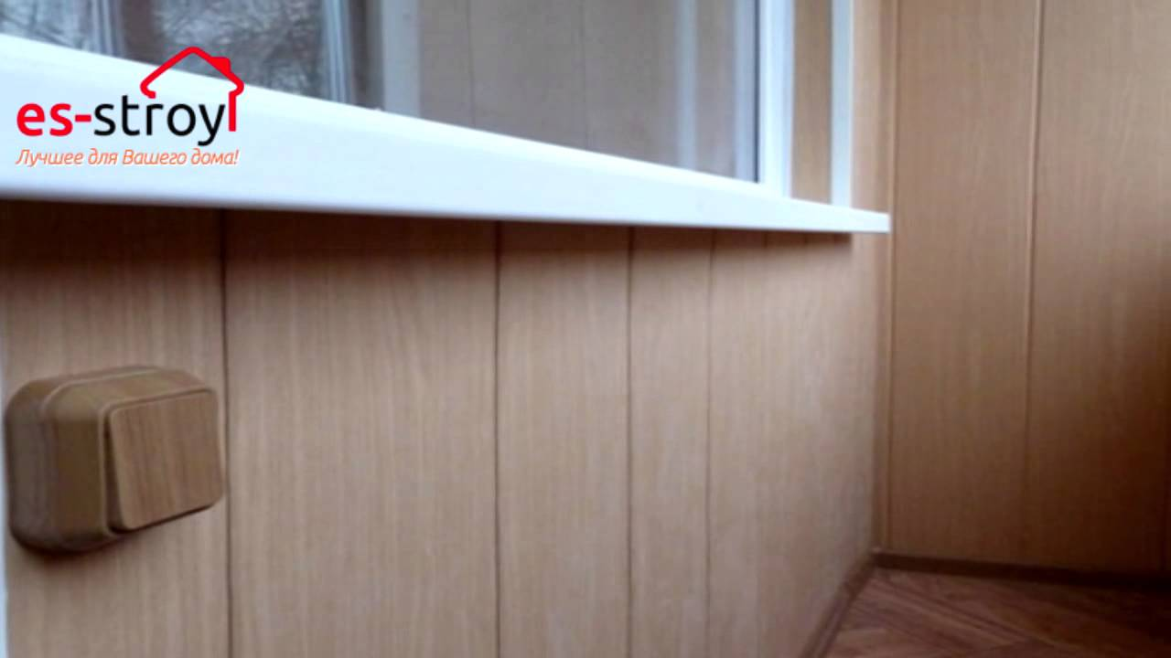 Монтаж потолочного плинтуса под пластиковые панели - YouTube