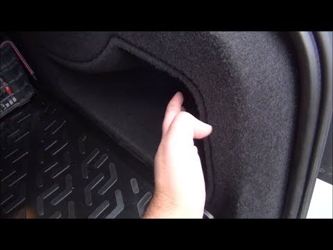 Audi A4 B8 - How to make a mesh for the trunk side storage space