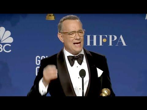 Tom Hanks - Cecil B. DeMille Award | Golden Globes 2020 Full Backstage Interview