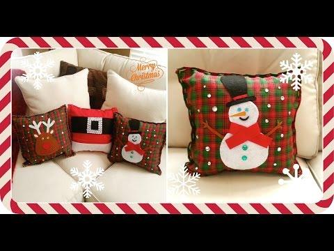 ¿Cómo hacer cojines navieños? / Decoraciones navideñas / Nuestro Día