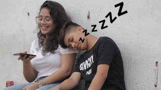 FALLING ASLEEP AND SNORING ON CUTE GIRLS| BEST REACTION EVER - WATCH TILL END| Oye It