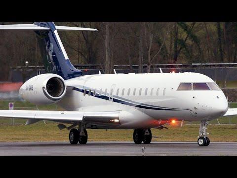 Bombardier Global 6000 Albinati Aeronautics Take-Off at Bern