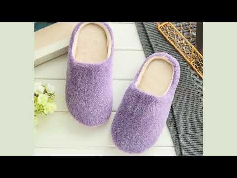 4a294e3e858 2017 Indoor House Slipper Soft Plush Cotton Cute Slippers Shoes Non-Slip  Floor Home Furry Slippers W