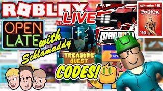 Roblox LIVE with Schlamaddy | Treasure Quest Update, Codes | Charity Livestream | Robux Giveaway