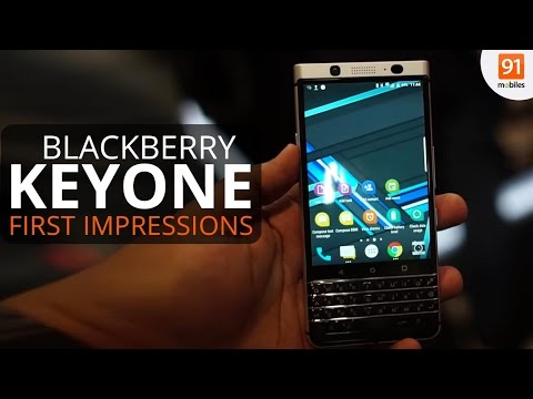 BlackBerry KeyOne: First Look | Hands on | Launch | MWC 2017
