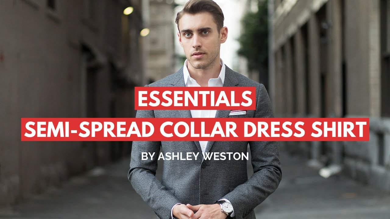 Semi spread collar dress shirt men 39 s wardrobe essentials for Semi spread collar shirt