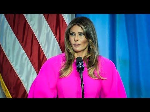 Melania Trump Gives AntiBullying Speech, Never Mentions Her Husband's Horrible Behavior