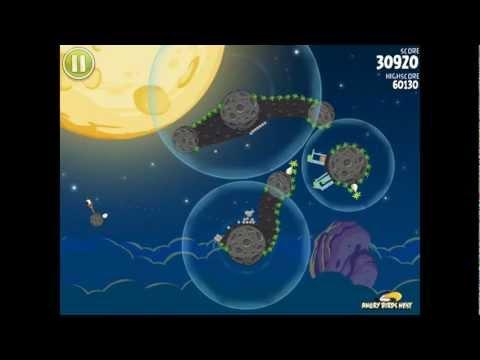 Angry Birds Space S-3 Pig Bang Bonus Level Walkthrough
