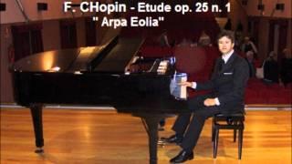 """Chopin Etude op. 25 n. 1 """"arpa eolia"""""""