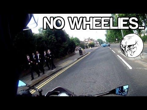No wheelies...