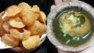 how to make crisp pani puri at home