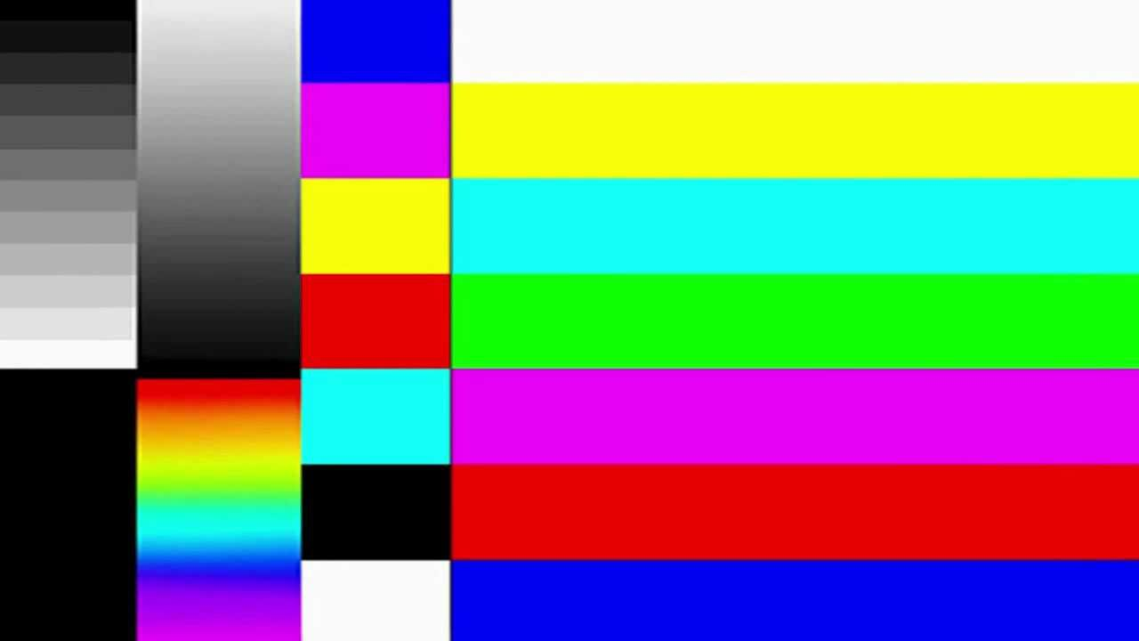 Showing No Signal Cable : Tv test signal youtube