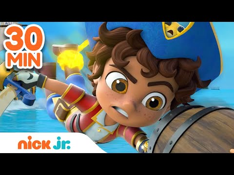 Santi's BEST Pirate Rescues #2! ⛵   30 Minute Compilation   Nick Jr.