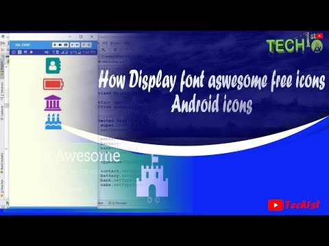 How To Display Font Awesome Free Icons | Android Icons