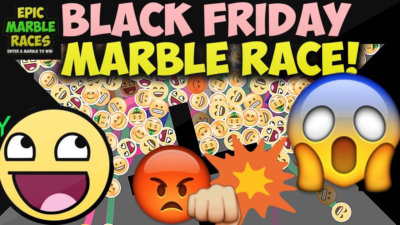 Black Friday Marble Race 2016 2000 Emoji Marble Run