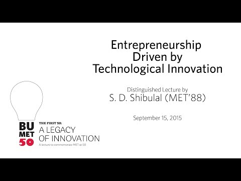 """A Legacy of Innovation: """"Entrepreneurship Driven by Technological Innovation"""""""