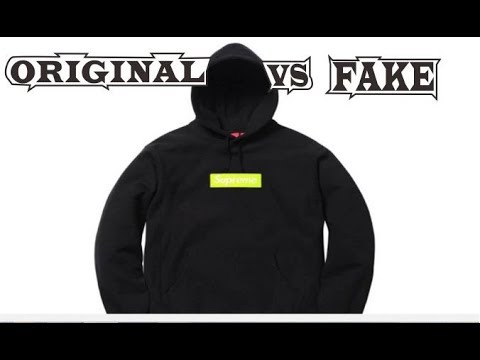 cb75974f829a Supreme Box Logo Hoodie Bogo Lime FW17 Black Original & Fake - YouTube