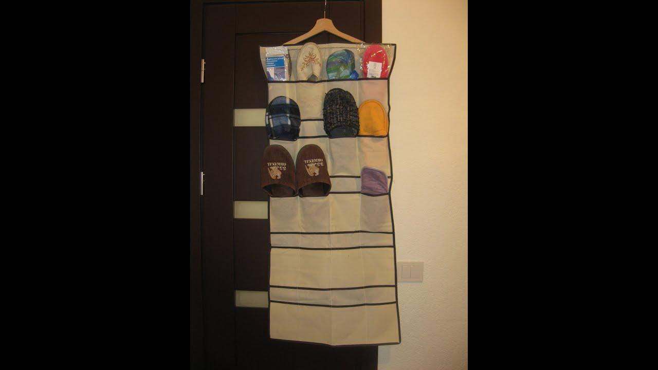 Органайзер 20 Pocket Hanging Bag Door Holder Shoe Storage Organizer Closet  Hanger Organiser   YouTube