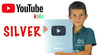 НОВАЯ Серебряная Кнопка Ютуба 2020 Детский YouTube СтеФанЧикоТВ youtube creator
