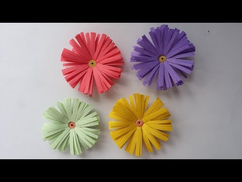 DIY: How to Make Beautiful Daisy  flower with Colour  Paper!!! Small Flower.....