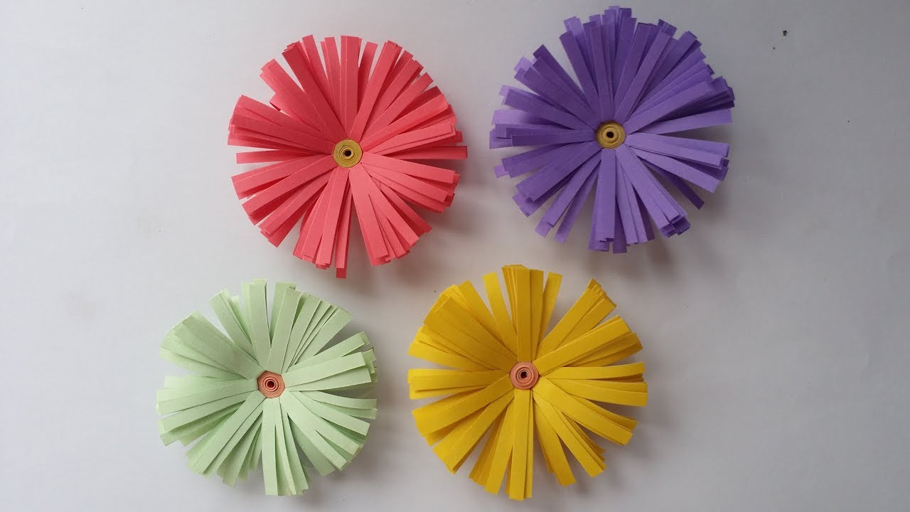 Diy how to make beautiful daisy flower with colour paper small diy how to make beautiful daisy flower with colour paper small flower jeuxipadfo Gallery
