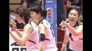 2006 World Championship Women Volleyball KOR X JPN 2SET [1/2]