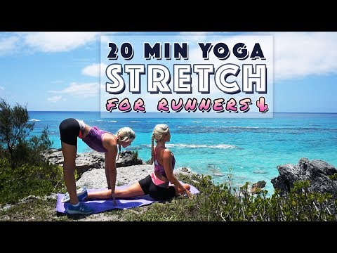 20 Min Yoga Flow for Runners | Stretches for Tight Legs, Hips & Glutes