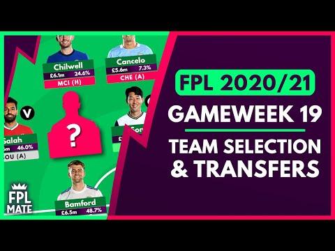 FPL GAMEWEEK 19 TEAM SELECTION | GW19 Scores, Transfers & Captain for Fantasy Premier League 2020 - 21